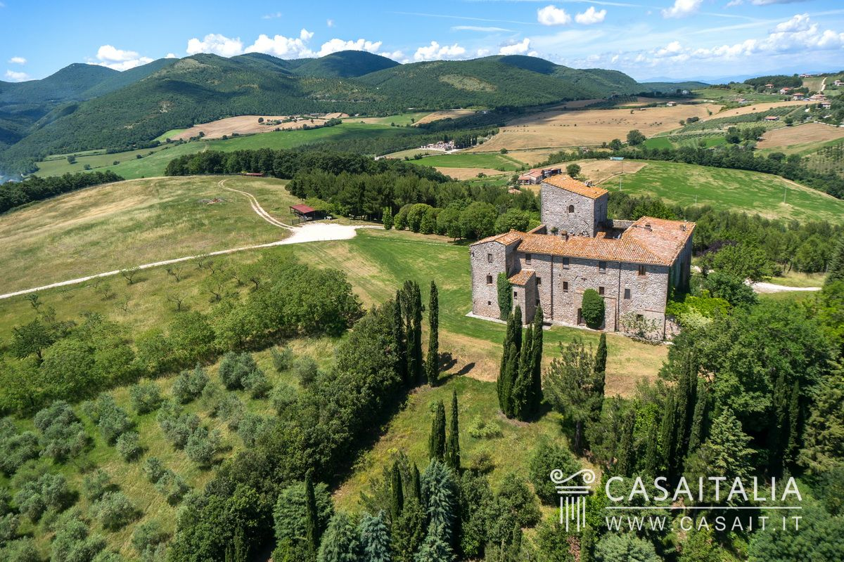 Castle For Sale In Italy With Olive Grove Umbria Todi
