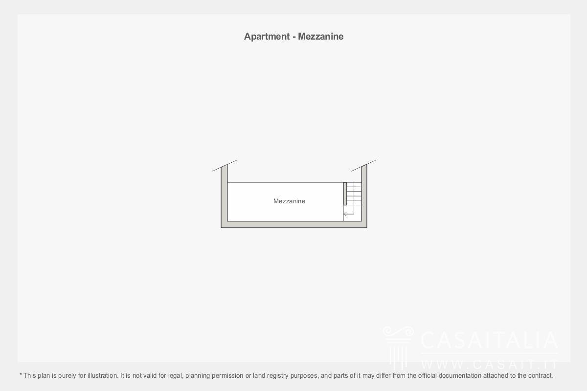 Apartment for sale in period villa with garden for Piani mezzanine garage